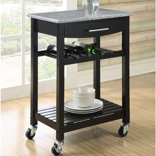 Gibson Kitchen Cart with Granite Top