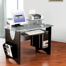 Computer Desk with Magazine Rack