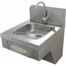 "20"" x 24"" Single Hands Free Hand Sink with Faucet"