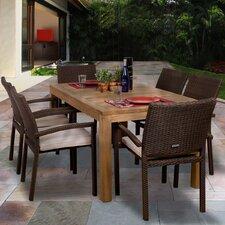 Amazonia Brownsville 7 Piece Dining Set