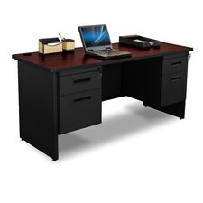 Pronto Double Pedestal Executive Desk with Box / File