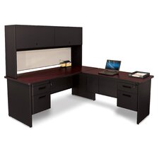 Pronto L-Shape Return Executive Desk with Lock and Drawers