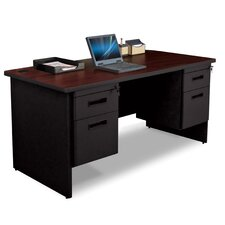 Pronto Box / File Executive Desk with Double Pedestal