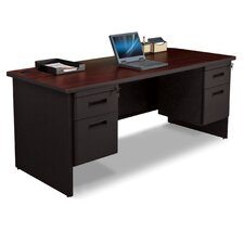 Pronto Double Pedestal Executive Desk with Lock