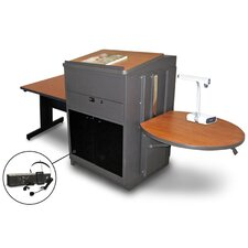 Vizion Rectangular Table with Media Center and Lectern