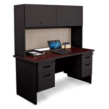 Pronto Executive Desk with Door and Lock
