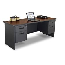 Pronto Computer Desk with Double Pedestal