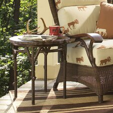 Chatham Run Heartwood Round End Table with Faux Top