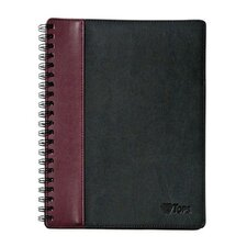 Textured Leatherette Wire O Legal Rule Notebook (Set of 160)