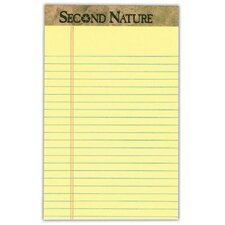 Second Nature 18 lbs Jr. Rule Legal Pad (Set of 144)