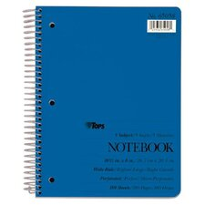 5 Subject Solid Cover Wide Ruled Theme Book (Set of 24)