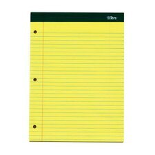 80 pt. Chip Double Docket 3 Hole Punched Legal Rule Legal Pad (Set of 36)