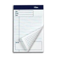60 pt. Docket Gold Task List Project Planning Pad (Set of 72)