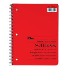 3 Subject Wide Ruled Notebook (Set of 24)