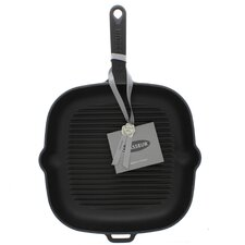 Chasseur 10-inch Square French Enameled Cast Iron Grill Pan