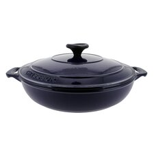 Chasseur 1.8-quart Blue French Enameled Cast Iron Braiser With Lid