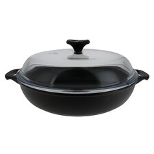 Chasseur 1.8-quart Black French Enameled Cast Iron Braiser With Glass Lid