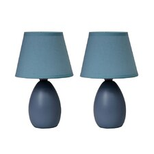 "9.45"" H Table Lamp with Empire Shade (Set of 2)"