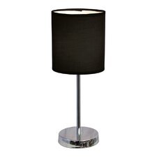 """11.89"""" H Table Lamp with Drum Shade (Set of 2)"""