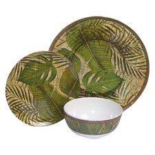 Melamine Tropical Leaf 3 Piece Place Setting
