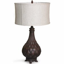 """Torchiere 31"""" H Table Lamp with Oval Shade"""