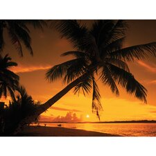 Outdoor Sunset Fire Photographic Print on Canvas