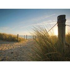 Outdoor Beach Walk Photographic Print on Canvas