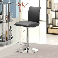 Navigator Adjustable Height Swivel Bar Stool with Cushion