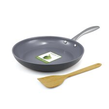 "Lima Hard Anodized 10"" Non-Stick Frying Pan with Bamboo Turner"