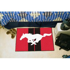 Ford Red Mustang Horse Area Rug