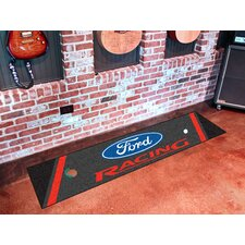 Ford Golf Putting Black/Red Racing Area Rug