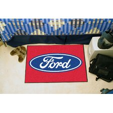 Ford Oval Red Area Rug