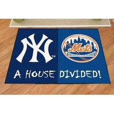 MLB New York Yankees - New York Mets House Divided Doormat