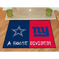 NFL Dallas Cowboys - New York Giants House Divided Doormat
