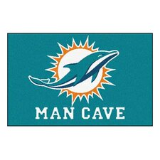 NFL Miami Dolphins Man Cave Starter Area Rug