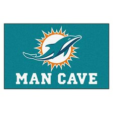 NFL Miami Dolphins Man Cave Outdoor Area Rug