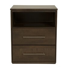 York 2 Drawer Nightstand