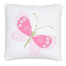 Mariposa Embroidered Butterfly Throw Pillow