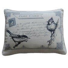 Postcard Feather Pillow