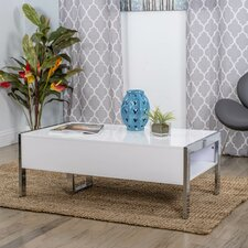 Selva White Coffee Table with Lift Top