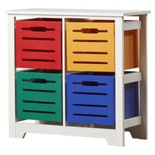 Cool Colors Kids 4 Bin Toy Organizer