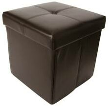 Cube Upholstered Storage Ottoman with Lid
