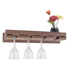 Wall Mount Wine Glass Rack with Shelf
