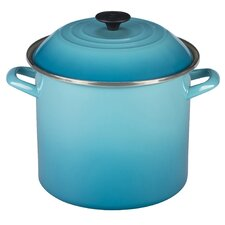 16qt. Enamel On Steel Stock Pot with Lid