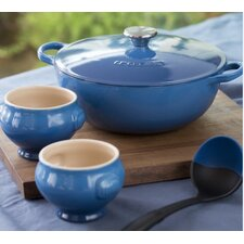 Stoneware 4.25-qt. Soup Pot Set with Lid