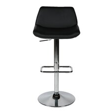 Maya Adjustable Height Swivel Bar Stool with Cushion