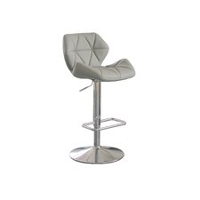 Aaron Adjustable Height Swivel Bar Stool with Cushion