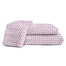 Melanie and Max 3 Piece Sweet Hearts Sheet Set