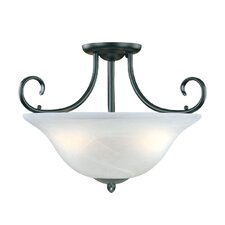 Main Street 3 Light Semi-Flush Mount
