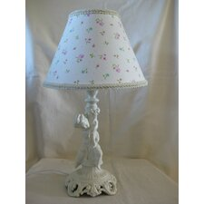 "Angel Baby Cherab 13.5"" H able Lamp with Empire Shade"